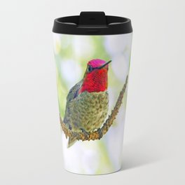 Anna's Hummingbird on a Twig Travel Mug