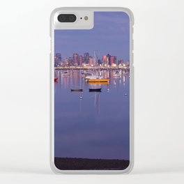 Boats and Boston skyline Clear iPhone Case