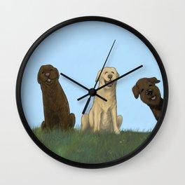 Augie Photo Bomb Wall Clock