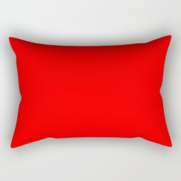 ff0000 Bright Red Rectangular Pillow