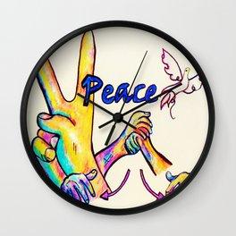 ASL Peace Wall Clock