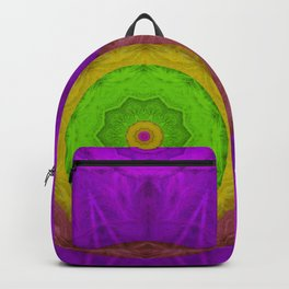 Feather Mandala in colors Backpack