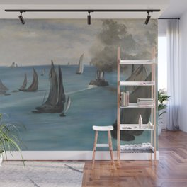 Édouard Manet - Steamboat Leaving Boulogne Wall Mural