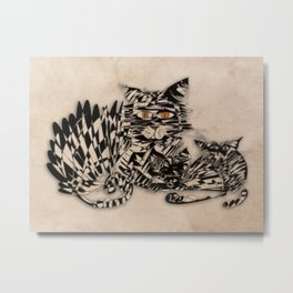 3 cats esoflowizm art Metal Print