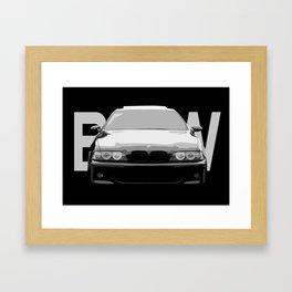 BMW E39 Ilustration Framed Art Print
