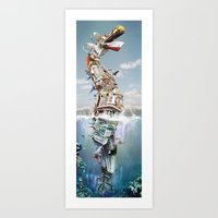 The Great Reef Serpent Art Print