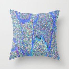 Beautiful Blue Surface Throw Pillow