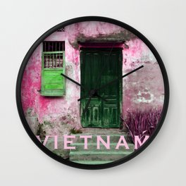 ANTIQUE CHINESE WALL of HOI AN in VIETNAM Wall Clock