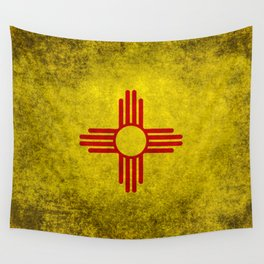 Flag of New Mexico - vintage retro style Wall Tapestry