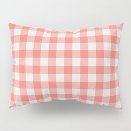 Modern red white classic 80s picnic pattern Pillow Sham