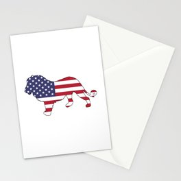 "Lion ""American Flag"" Stationery Cards"