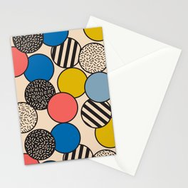 Memphis Inspired Pattern 5 Stationery Cards