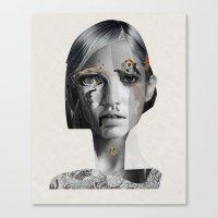 megan lara Canvas Prints featuring Lara by Zaneta Antosik
