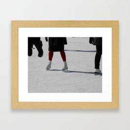 On Ice Framed Art Print