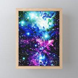 Fox Fur Nebula Dark & Vibrant Framed Mini Art Print