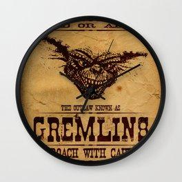 Wanted Gremlins Wall Clock