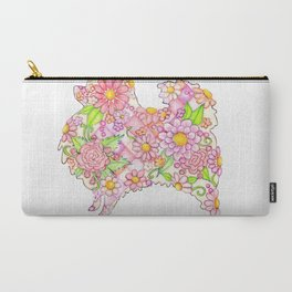 Pink Pomeranian Carry-All Pouch