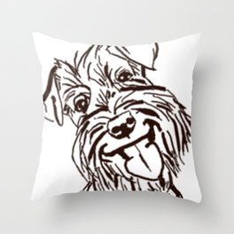 The happy Schnauzer dog love of my life! Throw Pillow