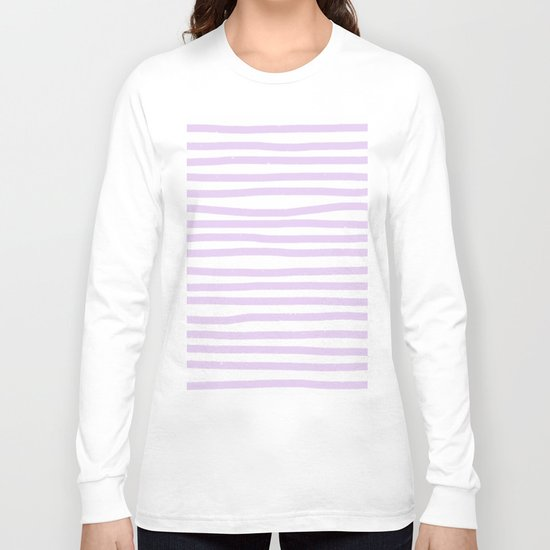 Lilac Stripes Horizontal Long Sleeve T-shirt