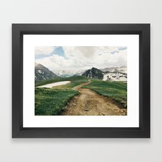 Colorado Mountain Road Framed Art Print