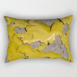 Yellow Peeling Paint on Concrete 3 Rectangular Pillow