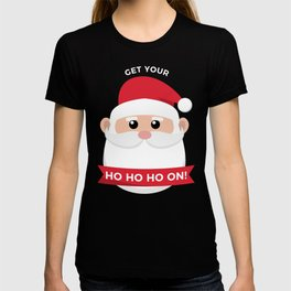 Ho Santa Claus Laughter Christmas Celebration Design T-shirt