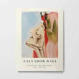 "Poster-Salvador Dali-The Exhibition ""The Divine comedy"" 1. Metal Print"