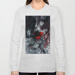 Red and Black Minimalist Abstract Painting Long Sleeve T-shirt
