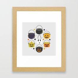 Halloween Candy Buckets Framed Art Print