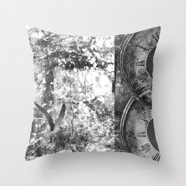 As Time Flies it Dissolves  Throw Pillow
