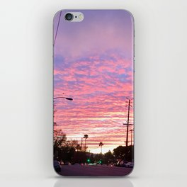 Pink City Sunset iPhone Skin
