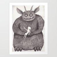 Monster Mine Art Print