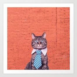 the stylish cat Art Print