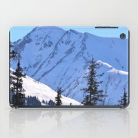 skiing iPad Cases featuring Back-Country Skiing  - V by Alaskan Momma Bear
