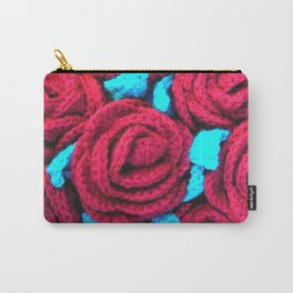 Crocheted Roses Carry-All Pouch