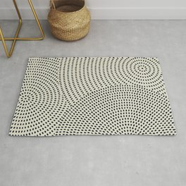 Circles of dots Rug