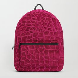 Croco leather effect - cherry Backpack