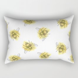 i'd like to be a busy little bee Rectangular Pillow