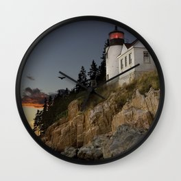Bass Harbor Head Lighthouse Acadia National Park Wall Clock