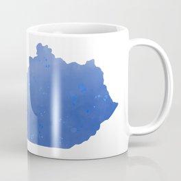 Kentucky State Map Watercolor Print Coffee Mug