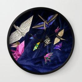 Flock of Cranes Wall Clock