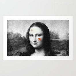 Restored Mona Lisa  Art Print