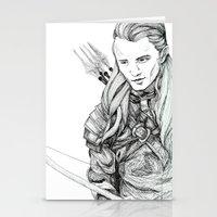 legolas Stationery Cards featuring Legolas by Margret Wilson
