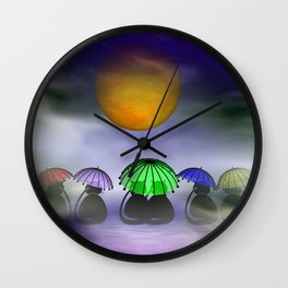 the little mooncats Wall Clock