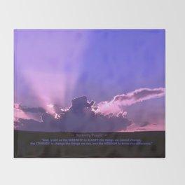 Serenity Prayer - III Throw Blanket