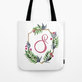 Jungle Gold Monogram Crest S Tote Bag