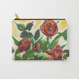 Sweet Red Roses Carry-All Pouch