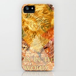 LION IN THE WOOD iPhone Case