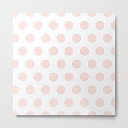 blush pink polka dots Metal Print