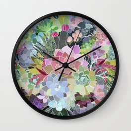 Succulents Paradise Wall Clock